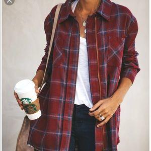 Vici Jackets & Coats - Vici nineties zipper plaid jacket NWOT SOLD OUT